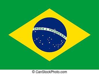 brazil., drapeau, vecteur, eps10, illustration