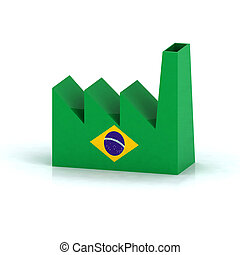 brazil factory symbol concept