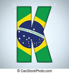 Brazil Flag Brazilian Alphabet Letters Words
