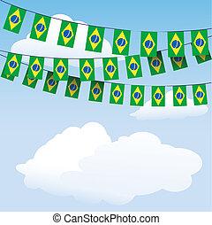 Brazil flag bunting