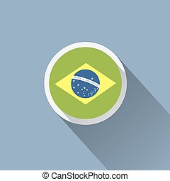 Brazil flag button icon.