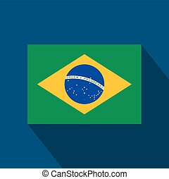 Brazil flag flat design. Vector illustration.