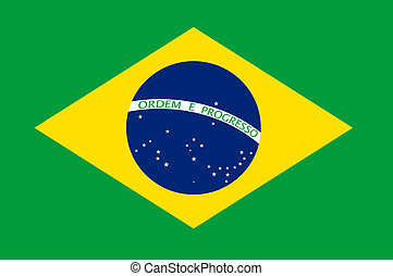 Brazil Flag Illustration - Brasil flag illustration