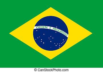 Brazil Flag Illustration - Brasil flag illustration