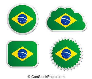 Brazil flag labels