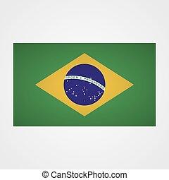 Brazil flag on a gray background. Vector illustration
