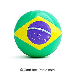 brazil flag on a soccer ball