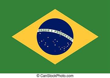 Brazil Flag. Vector Format