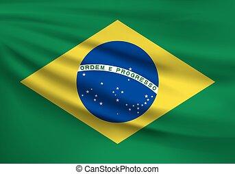 Brazil flag. Vector illustration.