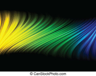 Brazil Flag Wave Yellow Green Blue Background - Vector -...