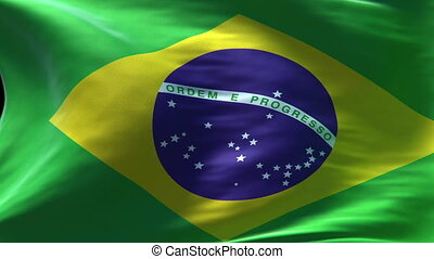 brazil flag waving loop high resolution texture in HD