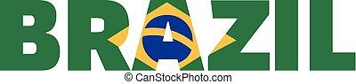 Brazil flag word