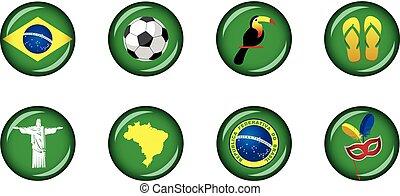 Brazil Glossy Icon Set