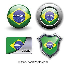 Brazil icons - Brazil flag icons theme.