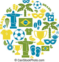 Brazil Icons Collection - A set of flat design Brazil icons...
