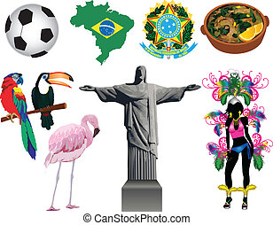 Brazil Icons - Vector Illustration of several Brazilian...