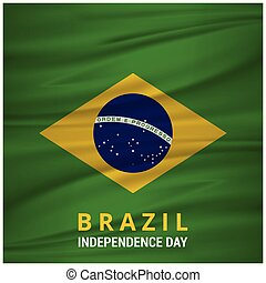 Brazil Independence Day waving Flag