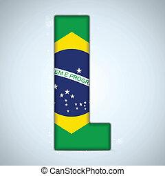 brazil lobogó, brazíliai, abc, irodalomtudomány, szavak