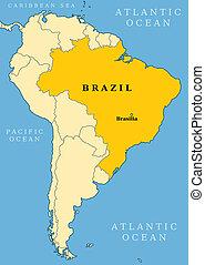 Brazil locator map