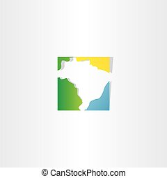 brazil logo map vector icon