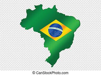 Brazil map and flag theme idea design