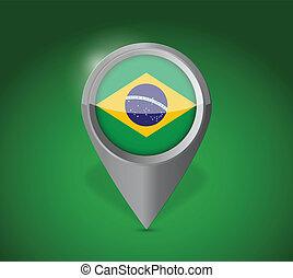 Brazil map application point label symbol