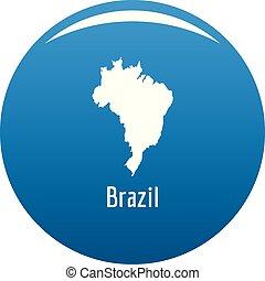 Brazil map in black vector simple