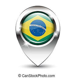 Brazil map pin