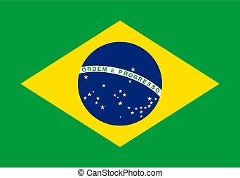 Brazil, national flag and ensign, illustration