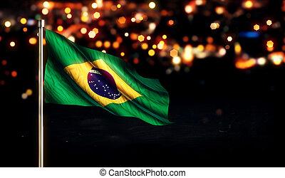 Brazil National Flag City Light