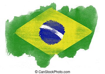 Brazil national flag created in gru