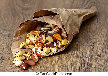 Brazil nut in paper bag