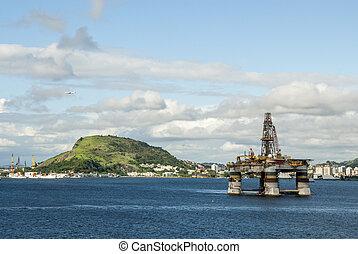 Brazil - Oil Rig In Guanabara Bay - Rio de Janeiro