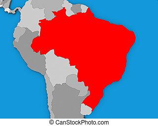 Brazil on 3D map