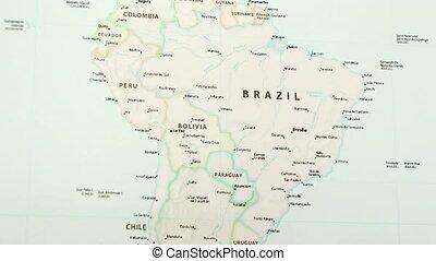 Brazil on a Map
