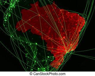 Brazil on green map