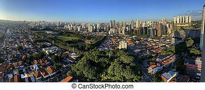 brazil., panorámico, paulo, vista, sao, ciudad