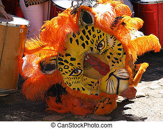 Brazil Rio Samba Carnival mask