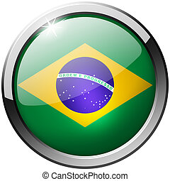Brazil Round Metal Glass Button