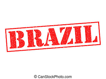 BRAZIL Rubber Stamp over a white background.