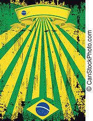 Brazil scratched background