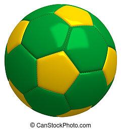 Brazil soccer ball isolated on white background