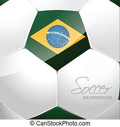 Brazil soccer ball poster design