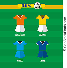 Brazil Soccer Championship 2014 Group C team