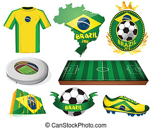 Brazil soccer vector illustration