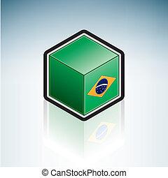 Brazil { South America } - Flag of Federative Republic of...