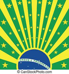 Brazil square sunbeams
