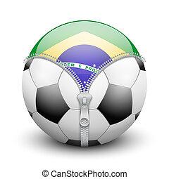 Brazil symbol inside soccer ball