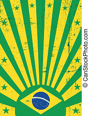 Brazil vintage background