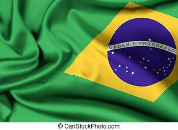 brazilië vlag, achtergrond